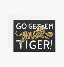 RIFLE PAPER CO RIFLE MISC GO GET 'EM TIGER CARD