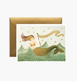 RIFLE PAPER CO RIFLE BDAY VINTAGE MERMAID CARD