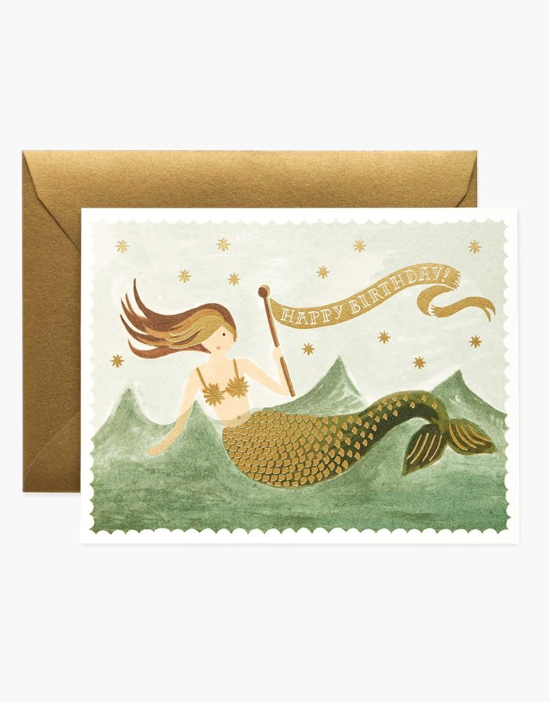 RIFLE PAPER CO RIFLE BDAY VINTAGE MERMAID CARD