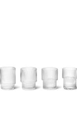 FERM LIVING FERM RIPPLE GLASS (SET 4)
