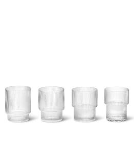 FERM LIVING FERM RIPPLE GLASSES SET OF 4