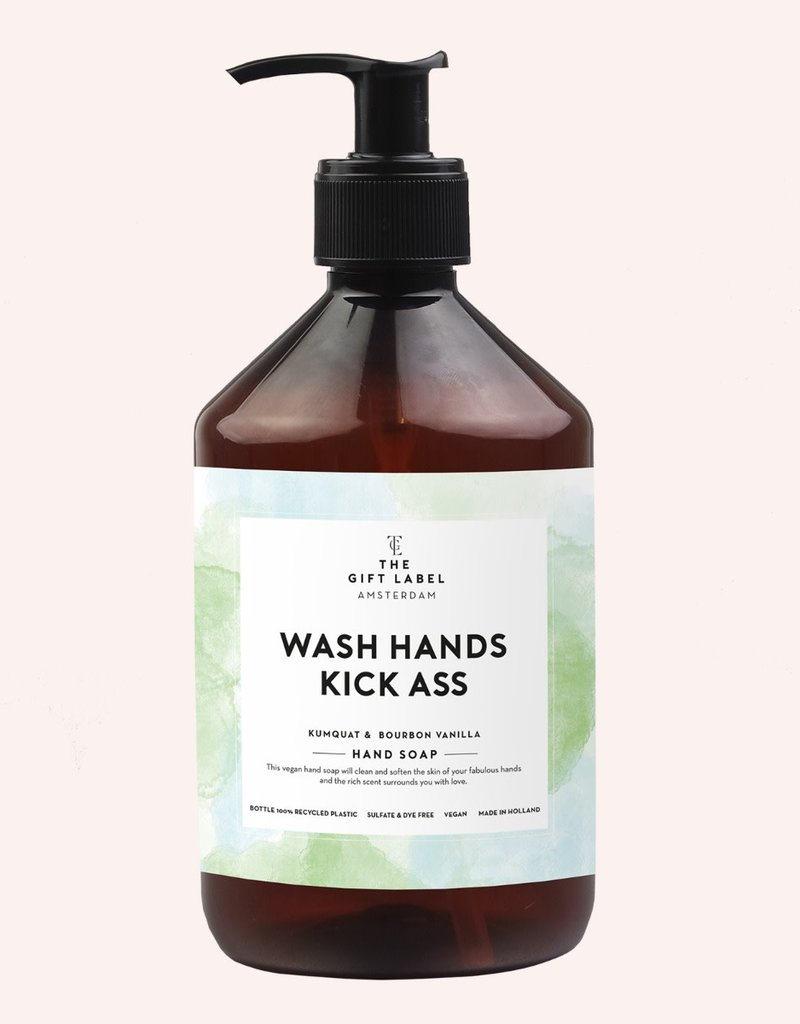 THE GIFT LABEL GIFT LABEL HAND SOAP WASH HANDS KICK ASS