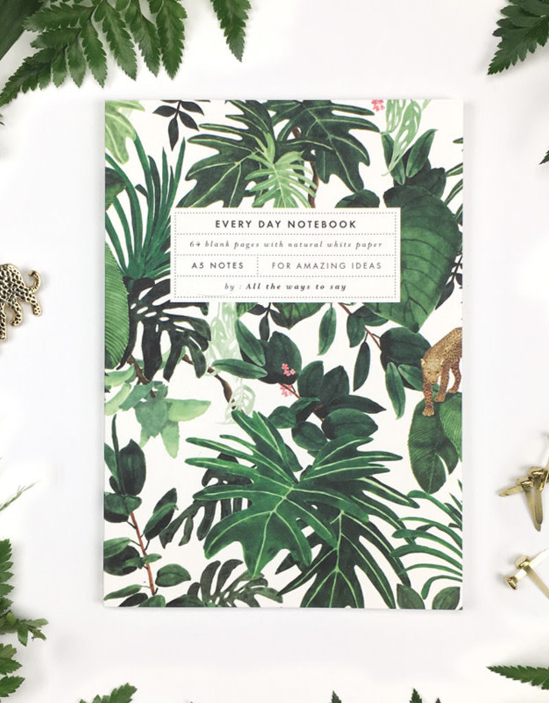 ALL THE WAYS TO SAY ATWTS NOTEBOOK A5 JUNGLE