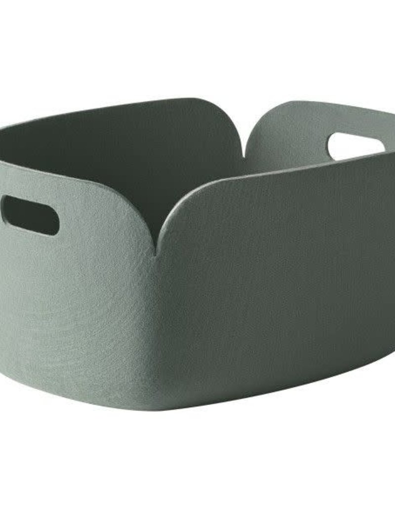 MUUTO MUUTO RESTORE BASKET DUSTY GREEN
