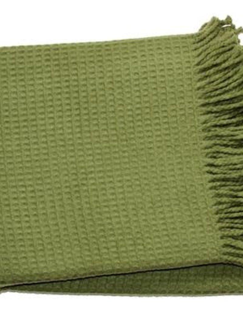 MENZA MENZA PLAID WAFFLE MOSS GREEN 140X180