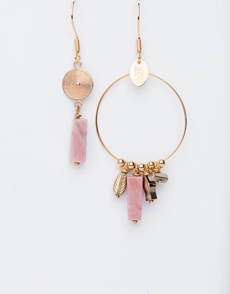 MURIELLE PERROTTI PERROTTI CREOLE CHARMS&PAMPILLE GOLD PINK