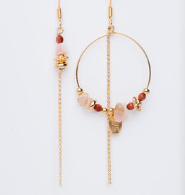 MURIELLE PERROTTI PEROTTI MP CREOLE ASYM GOLD SAND PINK