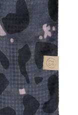 ZUSSS Zusss sjaal met print zwart
