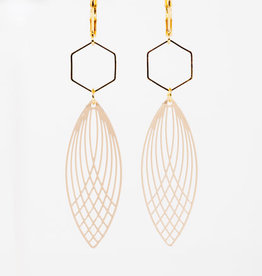 MON ONCLE MON ONCLE GEO OORRING PINK OVAL SIX