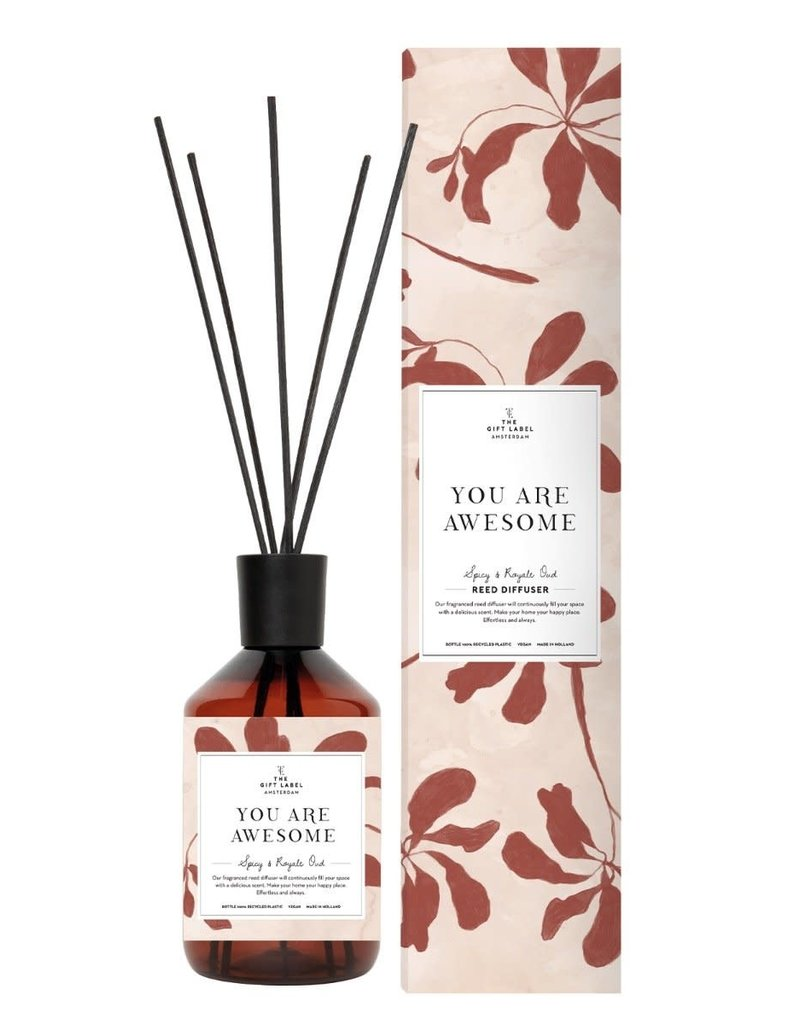 THE GIFT LABEL GIFT LABEL REED DIFFUSER YOU ARE AWESOME