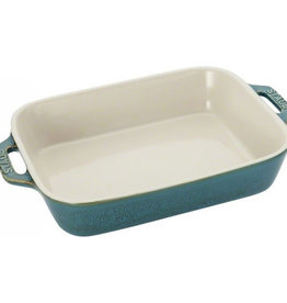 STAUB STAUB OVENSCHAAL 27X20 ANCIENT TURQUOISE