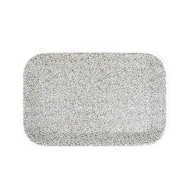 ZUSSS Zusss melamine dienblad spikkels 29x19cm zand