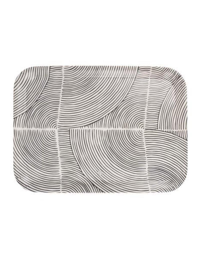 ZUSSS Zusss melamine dienblad grafisch patroon 43x32cm zand