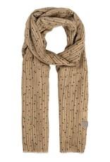ZUSSS Zusss sjaal met twijgenprint kaki