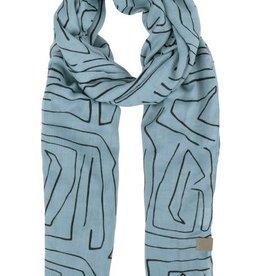 ZUSSS Zusss sjaal met safariprint grijs-blauw