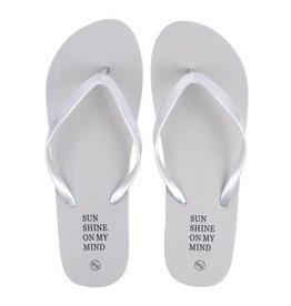 ZUSSS Zusss slippers sunshine on my mind mist maat 37-38