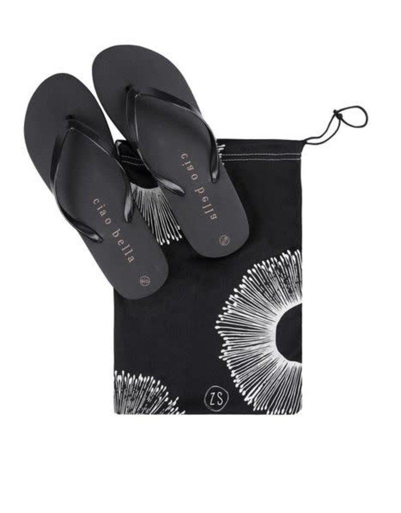ZUSSS Zusss slippers ciao bella zwart maat 37-38