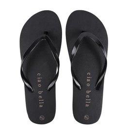 ZUSSS Zusss slippers ciao bella zwart maat 39-40