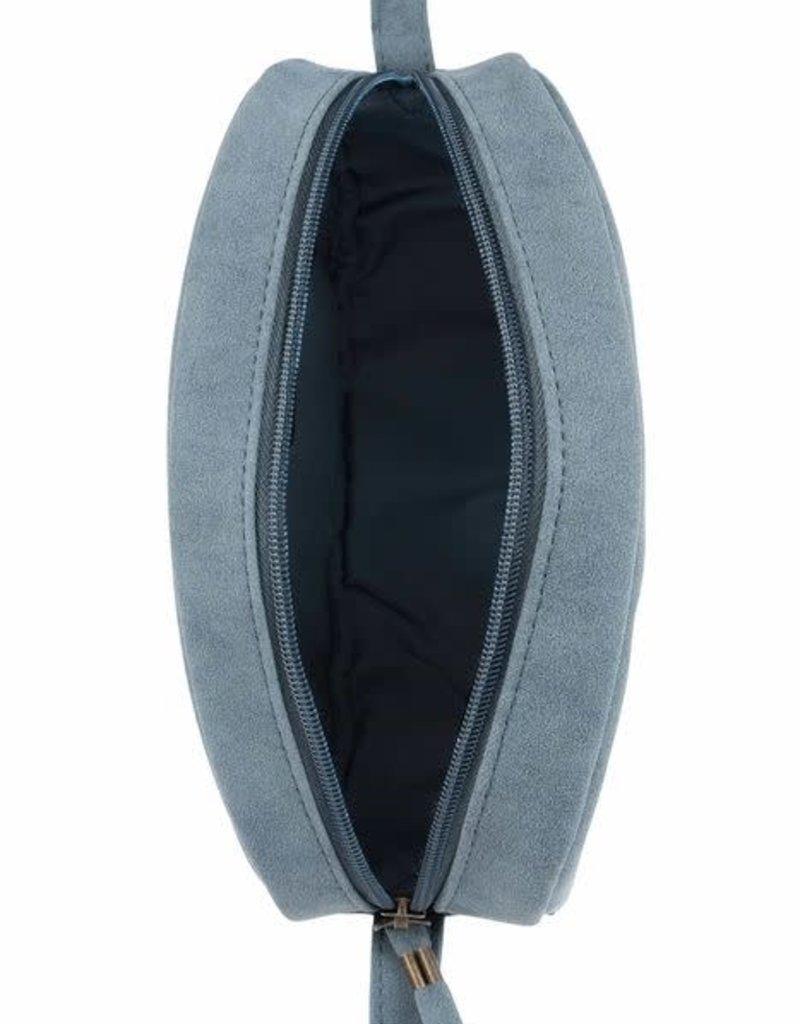 ZUSSS Zusss schoudertas ovaal grijs-blauw