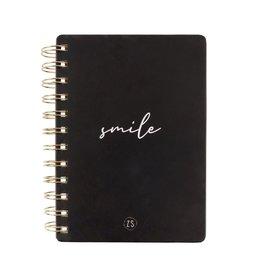 ZUSSS Zusss notitieboekje smile zwart