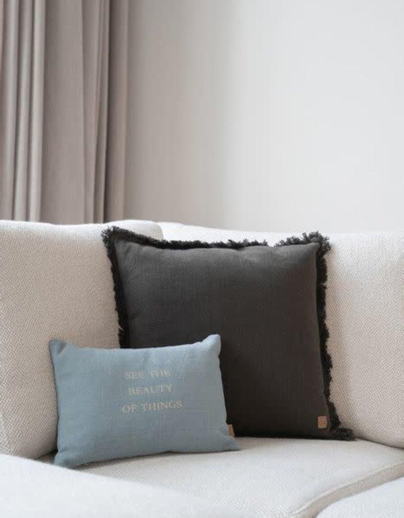 ZUSSS Zusss kussen beauty of things 35x25cm grijs-blauw