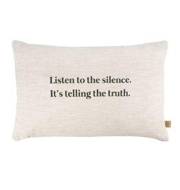 ZUSSS Zusss kussen listen to the silence 60x40cm peper en zout