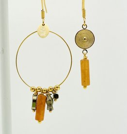 MURIELLE PERROTTI PERROTTI CREOLE CHARMS&PAMPILLE GOLD ORANGE