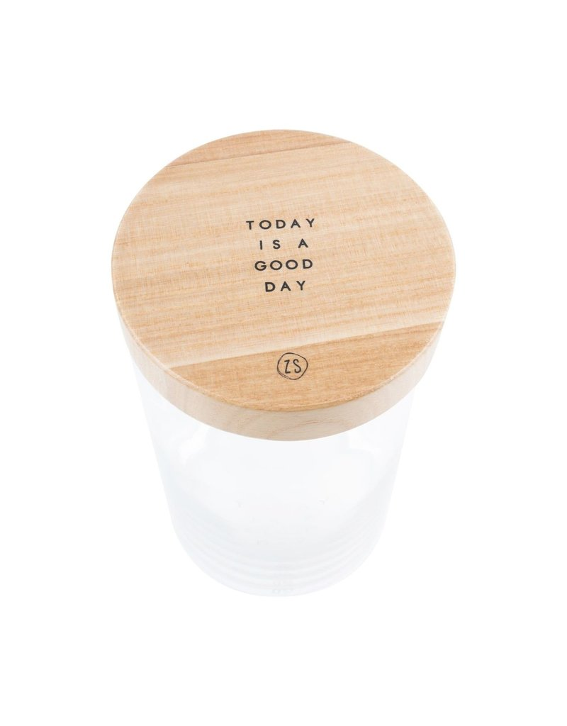 ZUSSS Zusss voorraadpot met houten deksel l good day glas