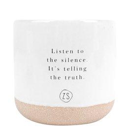 ZUSSS Zusss keramieken geurkaars listen to the silence