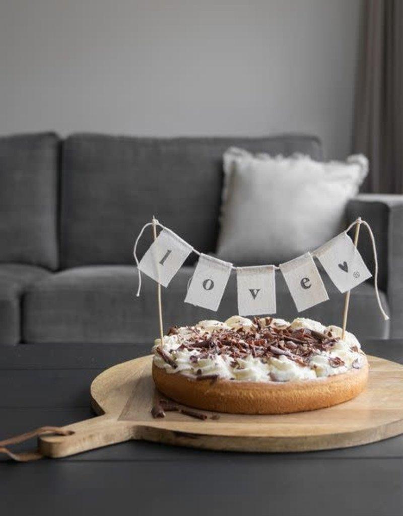 ZUSSS Zusss katoenen taartslinger love 60cm