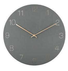 KARLSSON WALL CLOCK CHARM ENGRAVED GREEN