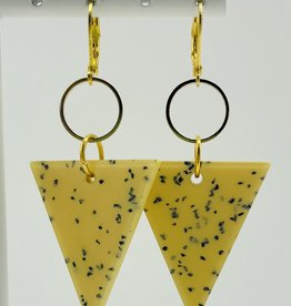 MON ONCLE MON ONCLE TERRAZZO POP OORRING YELLOW