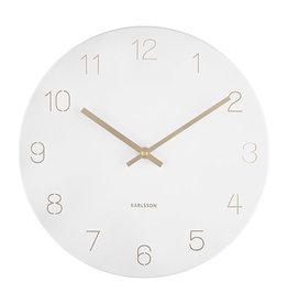 KARLSSON WALL CLOCK CHARM ENGRAVED WHITE