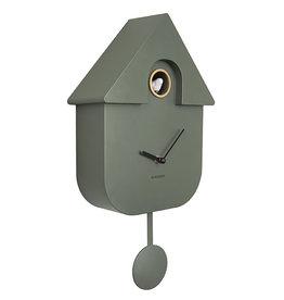 KARLSSON WALL CLOCK CUCKOO JUNGLE GREEN