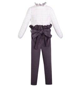 Eve Children Set bloes wit + broek grijs