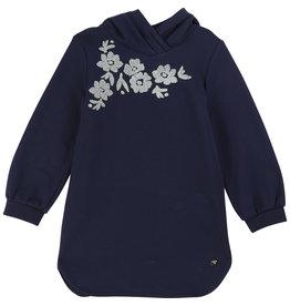 """Carrément Beau Jurk sweater kap """"Flowers"""" marine"""