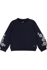 "Carrément Beau Sweater ""Flowers"" marine"