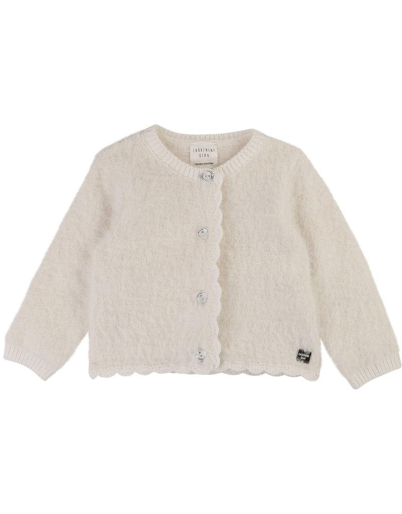 Carrément Beau Cardigan tricot gebroken wit
