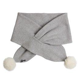 "Gymp Sjaal ""Gillo"" pompon grijs"