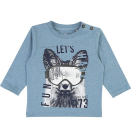 "Timberland Longsleeve ""Let's Have Fun"" l.blauw"
