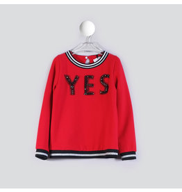 "T-Love Sweater ""YES"" rood"