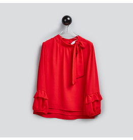 T-Love Blouse rood mouwdetails