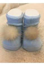 Sokjes pompon babyblauw