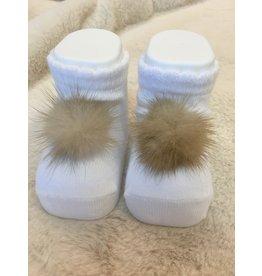Sokjes pompon wit
