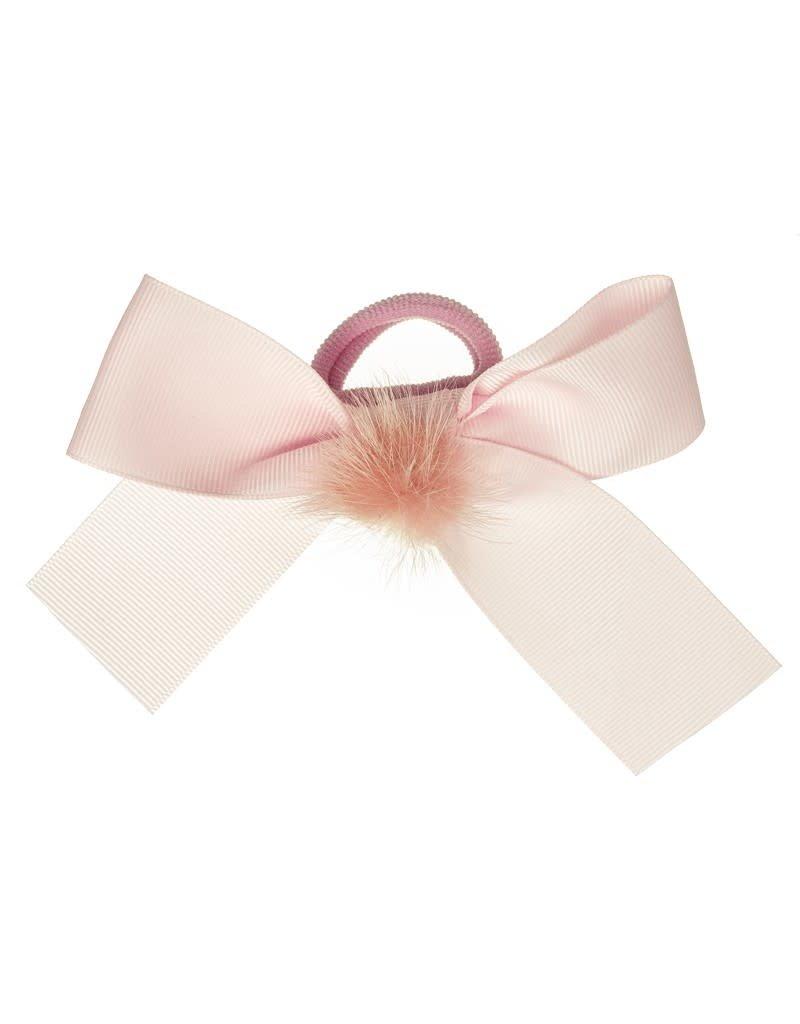 Siena Rekker lange strik pompon roze