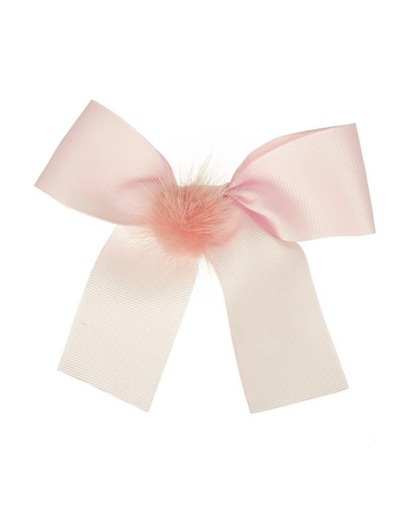 Siena Speld lange strik pompon roze