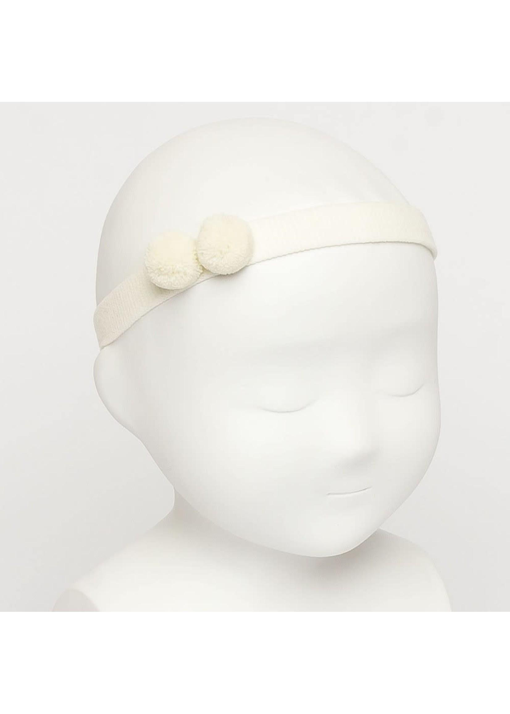 Siena SIENA Haarband 2 bolletjes ecru