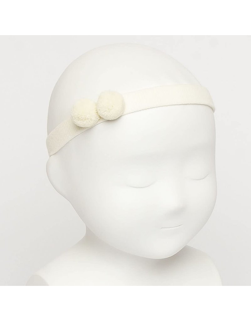 Siena Haarband 2 bolletjes ecru