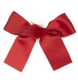 Siena Speld lange strik pompon rood