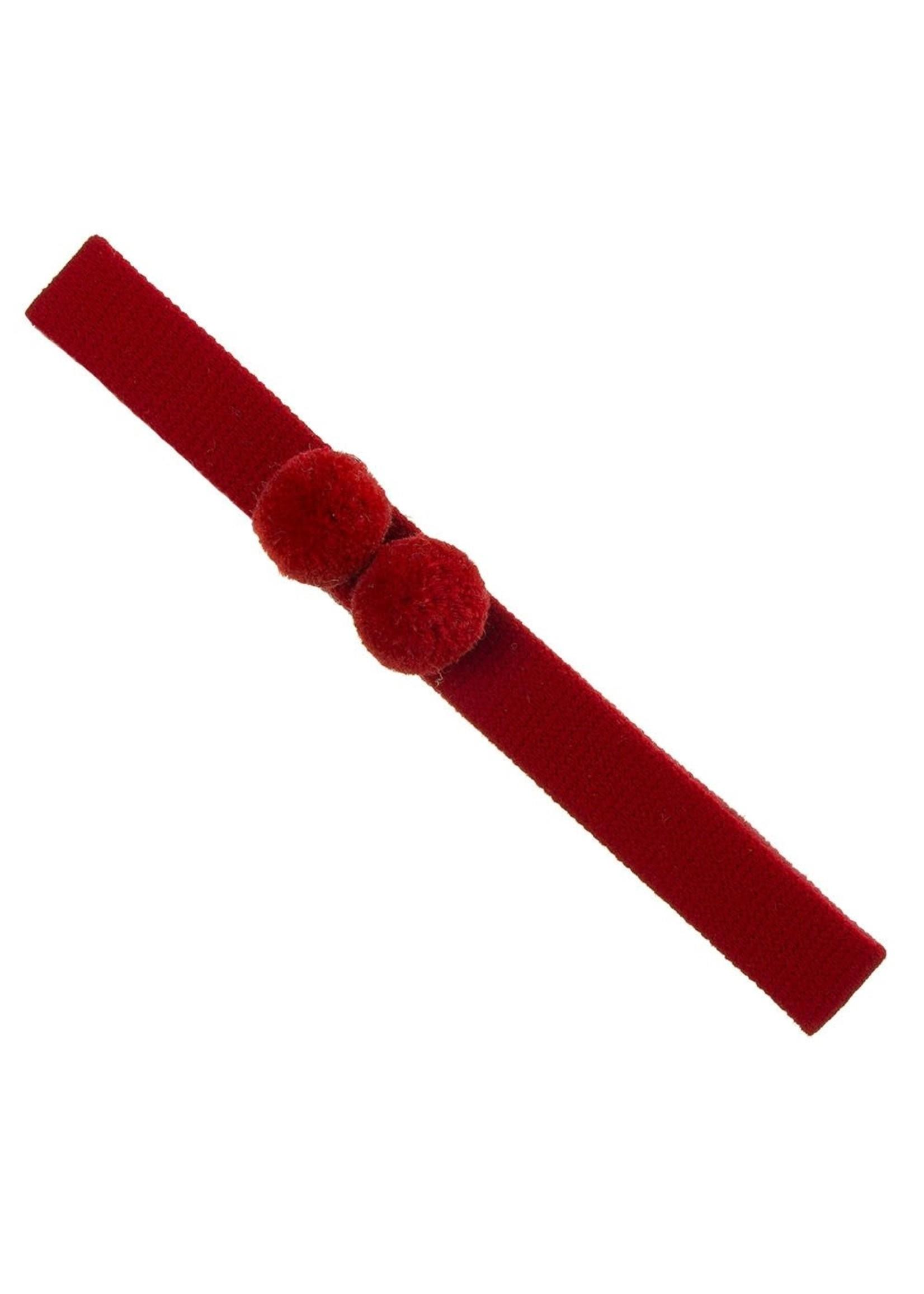Siena SIENA Haarband 2 bolletjes rood